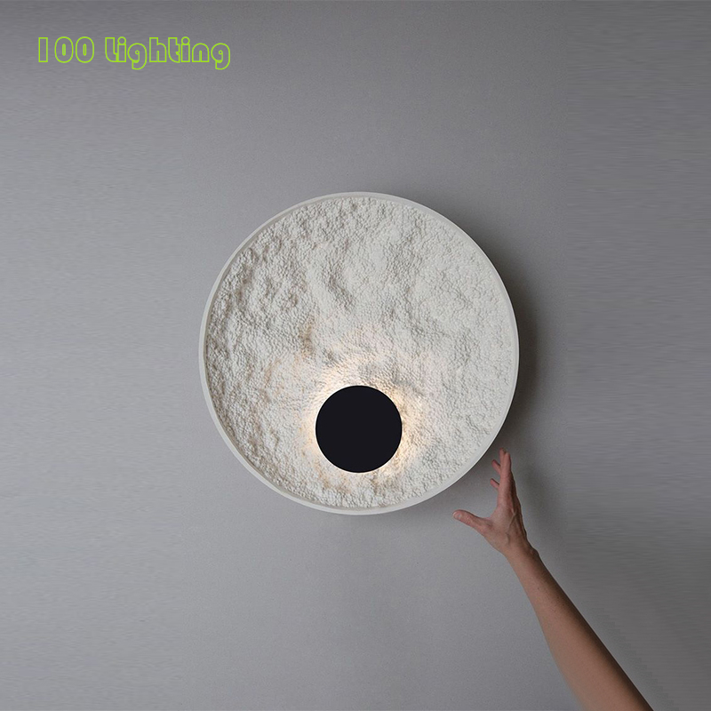 Round Moon White Body LED Home Wall Light Stairs Bedroom Corridor Wall Sconce Minimalist Nordic Loft Wall Lamp Wall Decoration