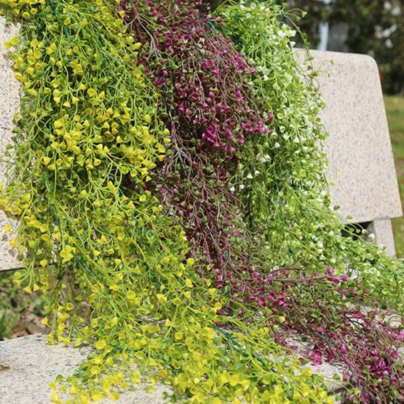 Party Wedding Artificial Flower Hanging Ivy Garland Plants Vine Fake Foliage Floral Wisteria Home Decor