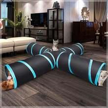 Игрушки для домашних животных туннель кошек 4 сторонний домашний