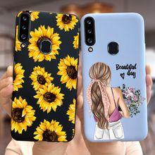 Girasol caso para Samsung Galaxy A01 A10 A20 A30 A40 A50 A70 A20E contraportada para Samsung 01 10 20 30 40 50 70 20E casos de teléfono