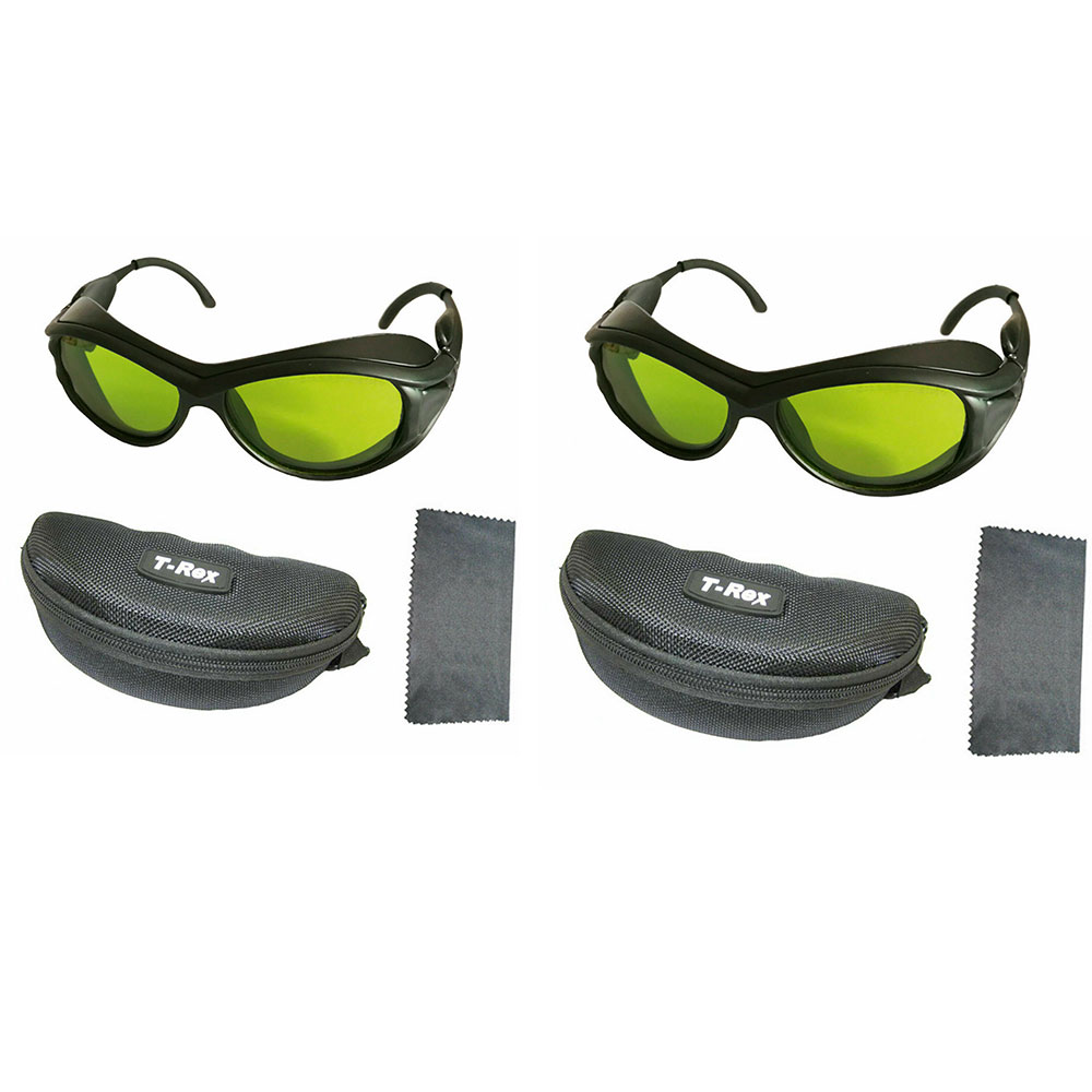 2pcs 200nm-2000nm Multi Wavelength Laser Protection Goggles Beauty Safety Glasses
