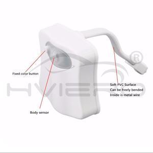 Image 5 - Умный ночник для сиденья унитаза с пассивным ИК датчиком движения, 8 цветов, светильник ильник с подсветкой для туалета, 1 шт.