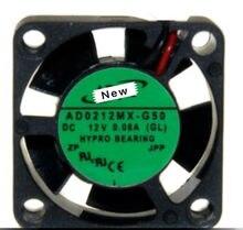 Para adda AD0212MX-G50 dc 12v 0.08a 25x25x10mm ventilador de refrigeração do servidor
