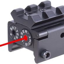 Красный лазер Красный точка зрения водонепроницаемый военный класс низкий профиль компактный с рельсовым креплением и аксессуарами
