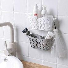 Basket Shelf-Organizer Shelves Storage-Holder Strainer-Storage Wall-Suction-Corner Bathroom