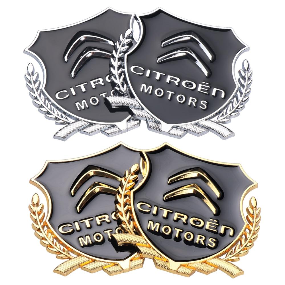 Car 3D Metal Alloy Emblem Stickers Car Window Badge Decal Decor For Citroen C1 2 3 4 5 6 8 C4L DS3 4 5 6 DS5LS C-ELYSEE VTS