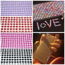 Autocollant cristal strass auto-adhésif multicolore, 1 feuille, 3/4/5/6mm, DIY bricolage, voiture Mobile, Scrapbooking, cristal, DIY bricolage