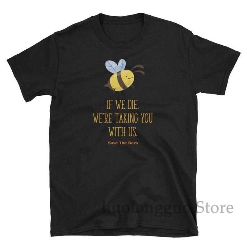 Arılar Tshirt Kısa Kollu tshirt Doğa Gömlek Korumak bizim Planet Grafik Tee Bayan Gömlek Erkek Gömlek Bumble Bee Tasarrufu en Arılar