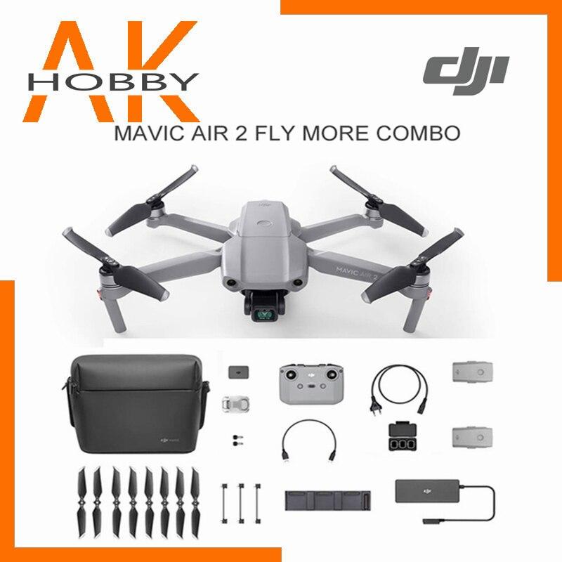Dji drone mavic air 2/mavic air 2 voar mais combo, com câmera 4k, 34-min, voo tempo 10km mais novo