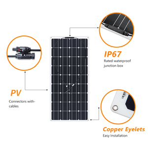 Image 3 - Boguang 2 stücke 100w semi flexible Solar Panel 200W placa solar Photovoltaik monoctrystalline 12v 24V batterie/yacht/RV/auto/boot RV
