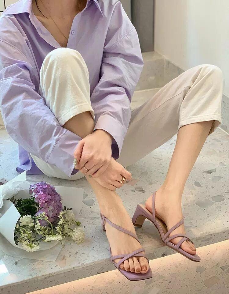 confortável alternando único sapato sandálias de salto alto feminino antiderrapante