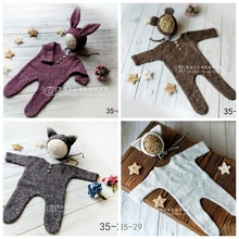 Get more info on the 2 pieces Crochet Baby Rompers Boy Photography Props Knit Long Sleeve Outfit + Hats Photo Shoot Prop Accessories
