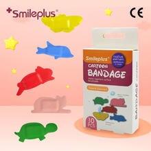 Smileplus CE Children Cartoon Bandage Kids Medical Adhesive Wound Dressing Breathable Sticky Hemostasis Band Aid Emergency Kit