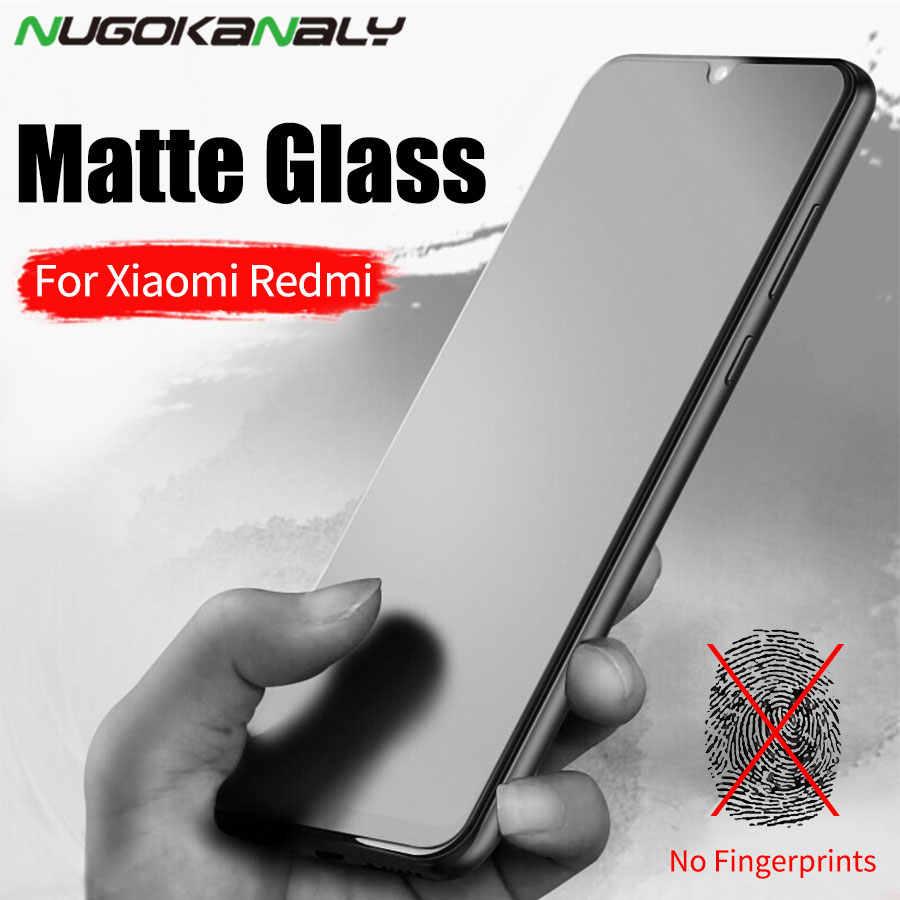 ماتي متجمد الزجاج المقسى ل شاومي Redmi 6 6A 5 زائد 4X Redmi نوت 9s 8 8T 7 7A 8A 6 برو مكافحة بصمة حامي الشاشة