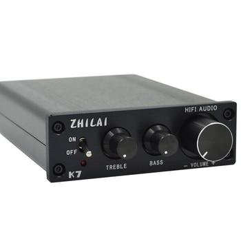 KYYSLB K7 TDA7498 Digital Amplifier 2 * 70W 2.0 Channel HIFI Computer Amplifier Bass and Treble Adjustment Power Home Amplifier