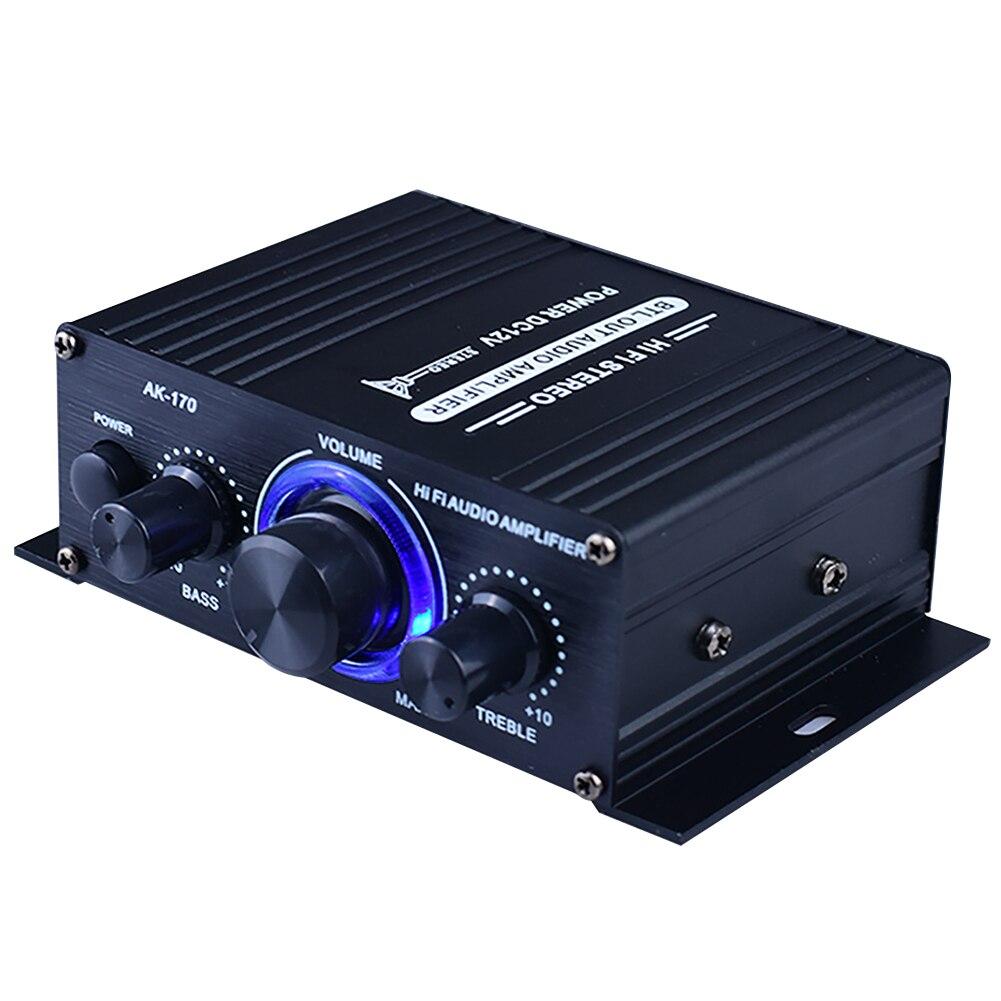 400W DC12V Musik Empfänger Bluetooth HiFi Mini FM Radio Schwarz Aluminium Legierung Einfach Installieren Sound System Power Verstärker Auto