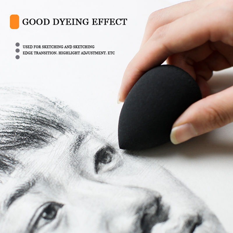 Art water gourd sponge sketch rubbing cotton absorbent sponge painting special paper brush brush daub pen absorbent Refers