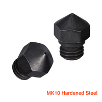 BIQU High Temperature MK10 Nozzles Hardened Steel 1.75MM Filament for 3D Printer J-head PEI PEEK or Carbon Fiber Bowden Extruder
