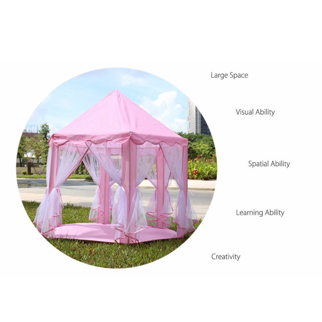Children Tent Toy Ball Pool Girl Princess Pink Castle Tents Small Playhouses For Kids Portable Kids Outdoor Play Tents Toy 514