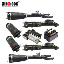 AirShock Rear Air Suspension Spring Bag Valve Air Compressor Front Air Spring For Mercedes Benz ML Class W164 GL W164 With ADS 1set for mercedes w164 x164 w251 v251 ml gl front air suspension spring bag repair kit air valve o ring car accessory 1643205913