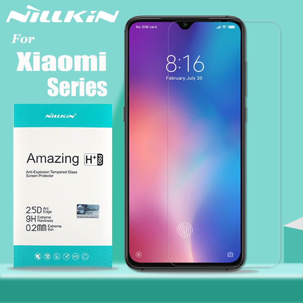 Nillkin for Xiaomi Mi 9 8 SE 9T Pro 5G Glass Screen Protector 9H Safety Tempered Glass for Xiaomi Mi9 Mi9T Mi 9 Lite Mi A3 A2 6-in Phone Screen Protectors from Cellphones & Telecommunications on