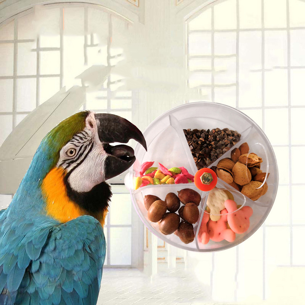 Diameter 13cm Parrot Brain Game Toy Funny Parrot Roller Feeder Device Toys Wheels Cake Modeling Design Food Box 3 colors image