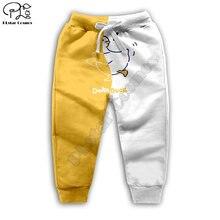 Детские штаны для бега с 3d принтом панды медведя утки цыпленка