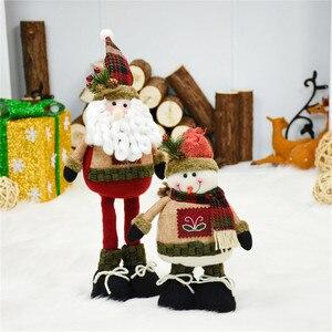 Куклы Санта-Клаус, снеговик, лось, рождественские украшения, выдвижная игрушка, Рождество, новогодний подарок, Рождественское украшение для...