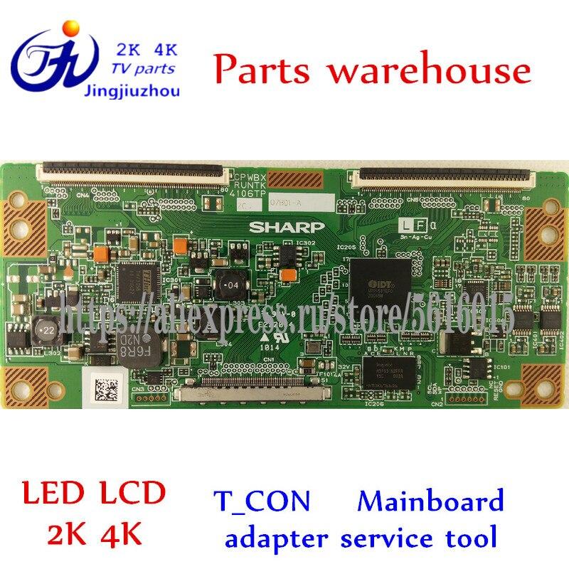 TV sharp LCD-40E66A T_CON original placa lógica CPWBX RUNTK LCD-40Z660A