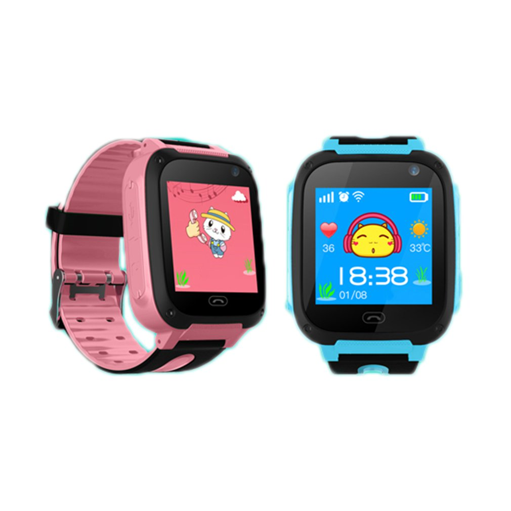 Children's Intelligent Telephone PositioningSmartwatch Multi-functional Touch Screen Kids Safe Watch Bitrthday Gifts
