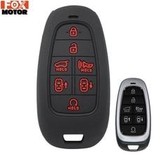 Для hyundai Nexo Sonata силиконовый пульт дистанционного ключа чехол Fob чехол-накладка мягкий чехол куртка с длинным рукавом 7 кнопок