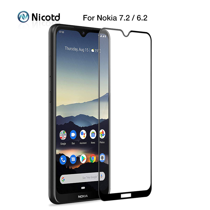 9H Full Tempered Glass For <font><b>Nokia</b></font> 7 6 5 3 <font><b>Screen</b></font> <font><b>Protector</b></font> For <font><b>Nokia</b></font> 8 8.1 7.1 6.1 3.1 Glass Film on for <font><b>Nokia</b></font> <font><b>7.2</b></font> 6.2 4.2 3.2 image