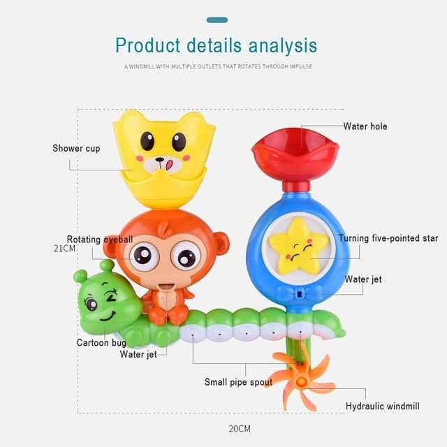 Juguetes de baño para niños ventosa de mármol carreras órbitas pista de baño de bebé bañera juguete para jugar en el agua juegos de piscina herramientas