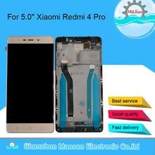 """5.0 """"מקורי 10 מגע M & סן עבור Xiaomi Redmi 4 ראש ROM 32G LCD מסך תצוגה + מגע פנל digitizer מסגרת עבור Redmi 4 פרו"""