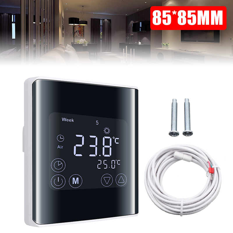 LCD Digital Thermostat Touchscreen Room Thermostat Underfloor Wall Heater