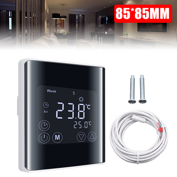 LCD Digital Thermostat Touchscreen Room Thermostat Underfloor Wall Heater 600w infrared space heater panel room heater with wireless sensor thermostat