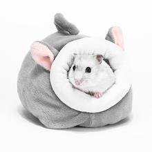 Łóżko dla zwierząt śliczne przenośne chomiki karłowate świnka morska jeże miękka mieszanka bawełny małe zwierzęta wiewiórka gniazdo ciepły dom tanie tanio HOUSEEN CN (pochodzenie) Polar
