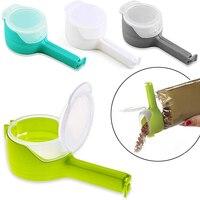 1 stücke Food Storage Bag Sealing Clips Kunststoff Kappe Versiegelung Clip Mit Gießen Tüllen Snack Candy Lagerung Frische Clamp Küche veranstalter