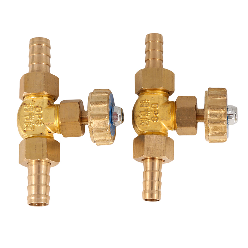 8mm/10mm  1 Mpa Water Valve ID Hose Barb Brass Parallel Needle Valve For Gas Max Pressure