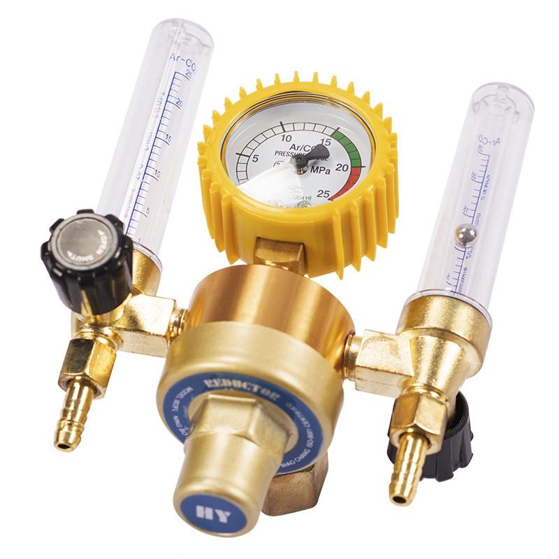Argon CO2 Pressure Reducer Mig Tig Flow Meter Control Valve Regulator Welding Weld Double Backpurge