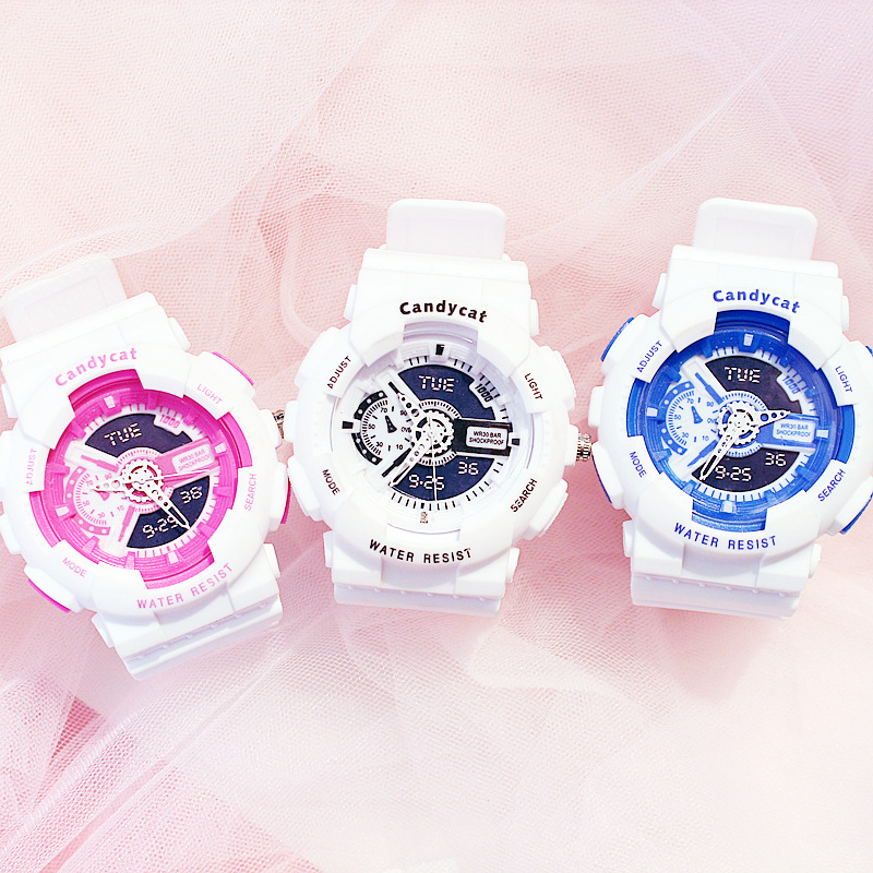 Fashion Silicone Electronic Lovers Watches Luxury Men's Women's Sport Watches Digital Display Watch Couple Watch For Men Women