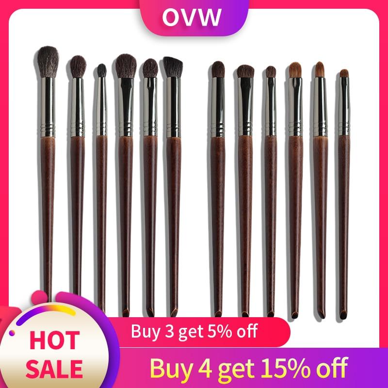 OVW cosmétique 6 pièces Ultra doux cheveux de chèvre maquillage ombre à paupières brosse ensemble outil trucchi pennelli mélangeur conique Kit diffus coupe pli
