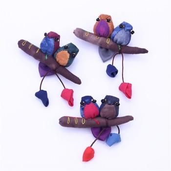 Broches de moda de pájaro para mujer Vintage estilo nostálgico Multi-funcional broche accesorios de joyería tejido