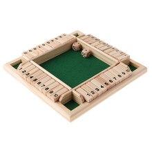 4 côtés 10 numéros fermer la boîte Table jeu de société adultes enfants numérique drôle jeu de Puzzle pour la fête/Club/jeu de famille