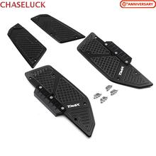 For Yamaha T max tmax 530 tmax530 2017 2018-2020 Motorcycle Front Rear Footboard Steps Footrest Pedal Foot Plate Accessories CNC for yamaha nvx 155 aerox 155 movistar 2017 footrest pedal motorcycle cnc aluminum alloy front rear footboard steps foot plate