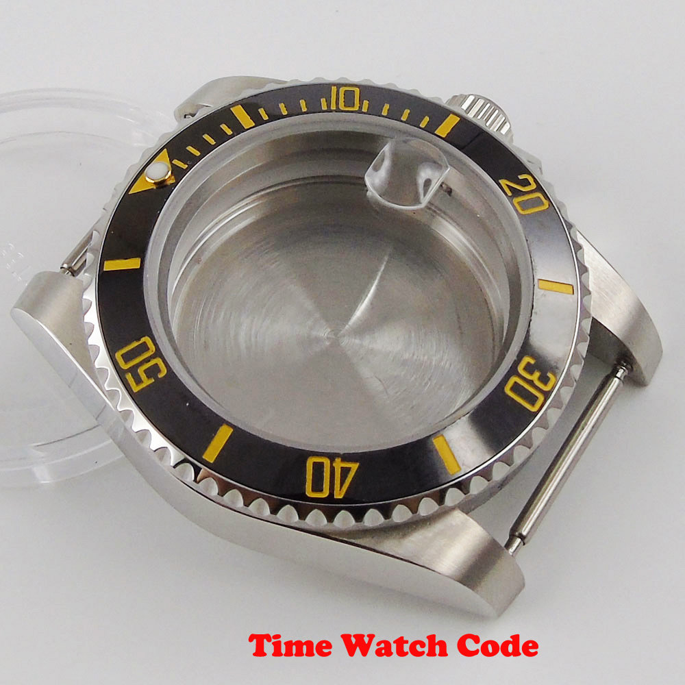 nh35 nh35a movimento automático safira vidro escovado