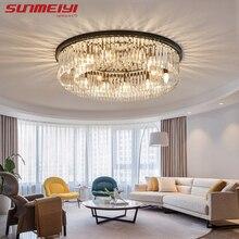 Modern Crystal Ceiling Lights Industrial Retro Home Lamp For Living room Kids Bedroom Dining Table LED Light Rectangle
