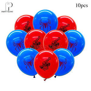 Boys Kids Super Hero Spiderman Theme Birthday Party Tableware Balloon Candy Box Flag Plate Cup Straw Tassel Party Supplies(China)
