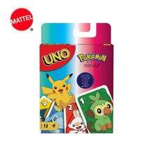 Mattel-Juego de cartas Pokemon UNO, juego de cartas de póker divertido para entretenimiento familiar, caja de regalos niños GTH24