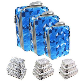 3Pcs/Set Travel Storage Bag Large Capacity Luggage Organizer Compress Pack Cube